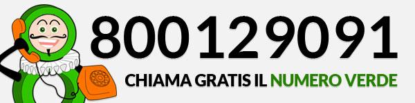 chiama GRATIS il Numero Verde 800 12 90 91