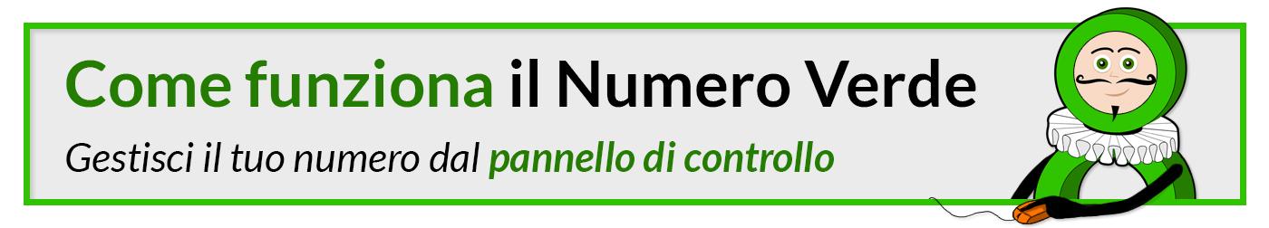Come funziona il Numero Verde - gestisci il tuo Numero dal Pannello di controllo