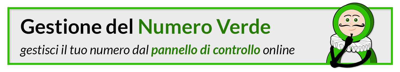 Gestione del Numero Verde - gestisci il tuo numero dal pannello di controllo online